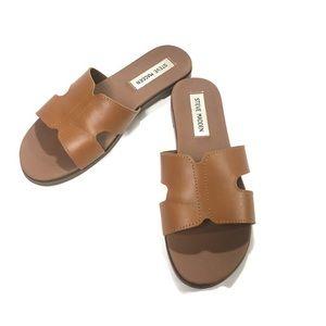 Steve Madden Hoku Leather Slide Sandals Size 6M